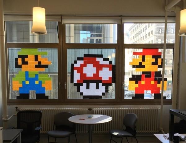 Phiên bản người nấm Super Mario từ những mẩu giấy nhắc việc của nhân viên văn phòng