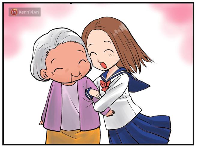 Bộ tranh: Ai cũng từng lớn lên dưới tình yêu thương của bà...