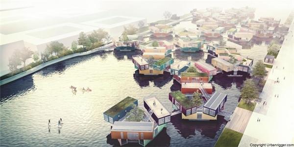 Dự kiến sẽ có nhiều nhà nổi trên mặt nước như thế này cho sinh viên ởCopenhagen trước khi lan rộng ra các nước khác