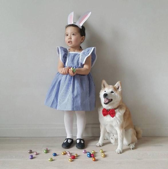 Cô bé 3 tuổi lai Hàn - Pháp và chú chó Pompon: Tình bạn làm náo loạn Instagram vì độ dễ thương