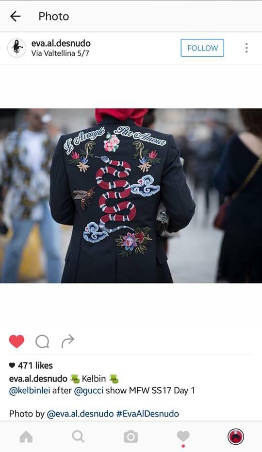 Mới đây, hình ảnh của Kelbin Lei tại Milan đã xuất hiện trên hàng loạt tạp chí, blog và trang báo danh tiếng của thế giới với bộ trang phục được chọn phối nhiều lớp vô cùng thú vị, bắt mắt qua 3 tông màu: xám, đen, đỏ làm chủ đạo. Lợi thế thân hình mảnh khảnh giúp Kelbin Lei có thể biến hóa với nhiều item đa dạng về màu sắc, kiểu dáng, chất liệu.