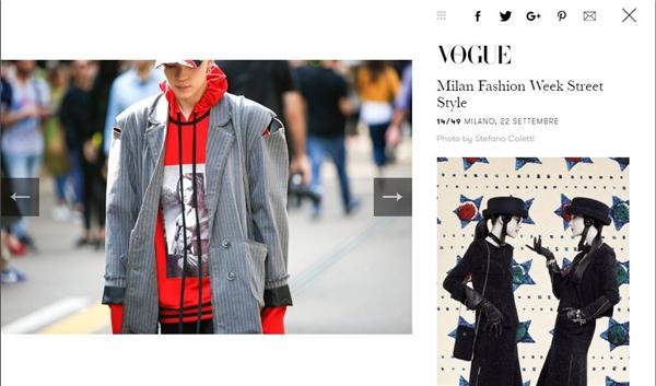 Tiêu biểu nhất là hình ảnh của chàng stylist trẻ xuất hiện trên tạp chí Vogue Italia, một trong những tạp chí thời trang lâu đời, danh giá bậc nhất hành tinh.