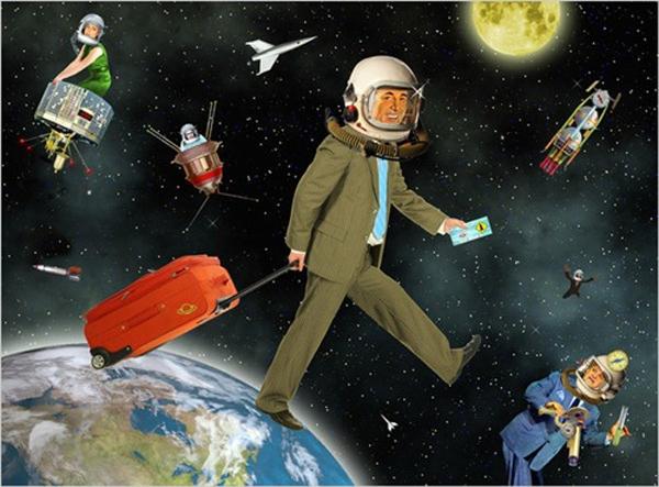 Theo dự đoán củaNostradamus, trong hai năm tới,du lịch không gian sẽ trở thành một trong những dịch vụthương mại hái ra tiềncủa nhiều quốc gia.