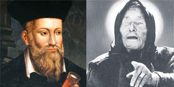 Chân dung hai nhà tiên tri nổi tiếng ôngNostramadus (bên trái) và bà mùVanga