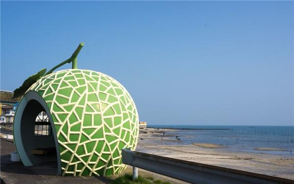 """Một """"quả dưa lưới"""" bên bờ biển.(Ảnh: Internet)"""