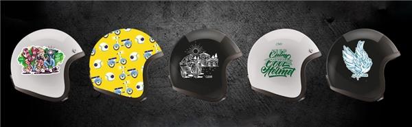 """Những phong cách """"độ"""" nón bảo hiểm khiến giới trẻ thích thú - Tin sao Viet - Tin tuc sao Viet - Scandal sao Viet - Tin tuc cua Sao - Tin cua Sao"""