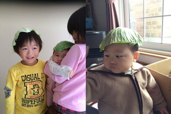 Các bà mẹ thi nhau cho con hưởng ứng trào lưu mũ bắp cải ngộ nghĩnh.