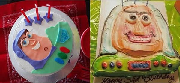 Nếu đây là một món quà sinh nhật cho ai đó, thiết nghĩ người được nhận sẽ chẳng thèm thổi nến với một cái bánh xấu xí đến mức này.