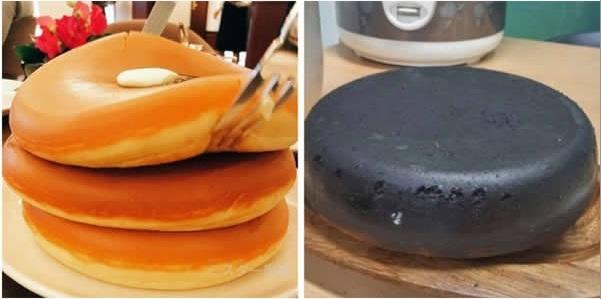 Cái bánh đã đạt yêu cầu về hình dáng, chỉ là màu sắc có chút khác biệt mà thôi.