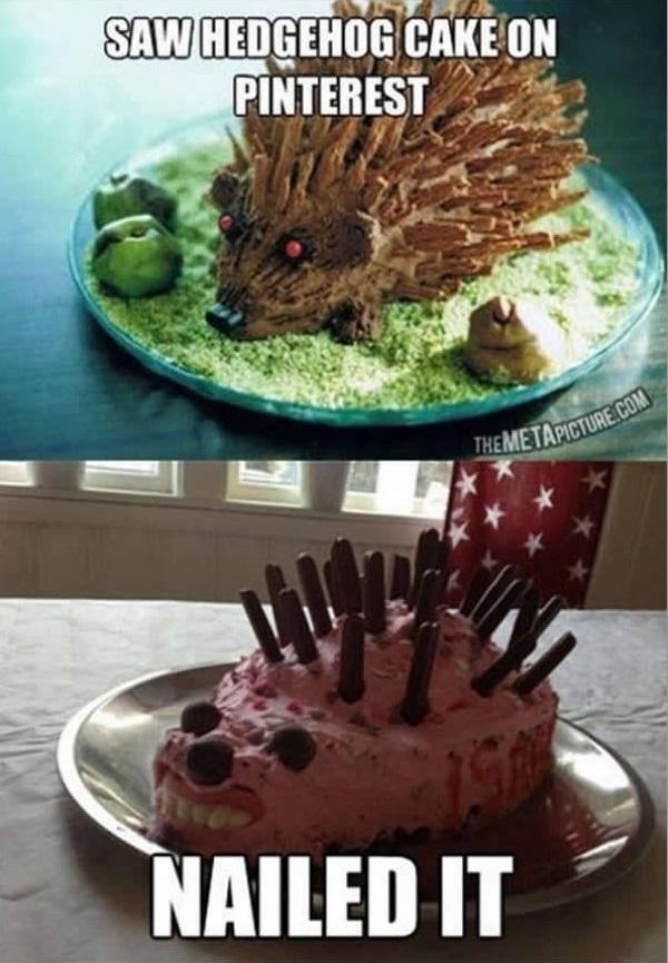 Tình cờ nhìn thấy chiếc bánh hình con nhím dễ thương trên Internet và kết quảsau khi vào bếpthực hiện.