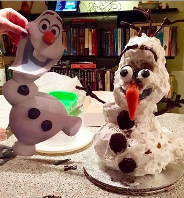 Người tuyết Olaf phiên bản nham nhởchưa từng có.