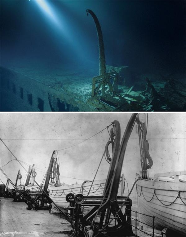 Đây là trạm thả xuồng cứu hộ. Một trong những chiếccần trục nàyđã hạ thủy chiếc xuồng cứu hộ, đưaJ. Bruce Ismay,chủ tịch công ty sở hữu con tàu Titanic, đến nơi an toàn.
