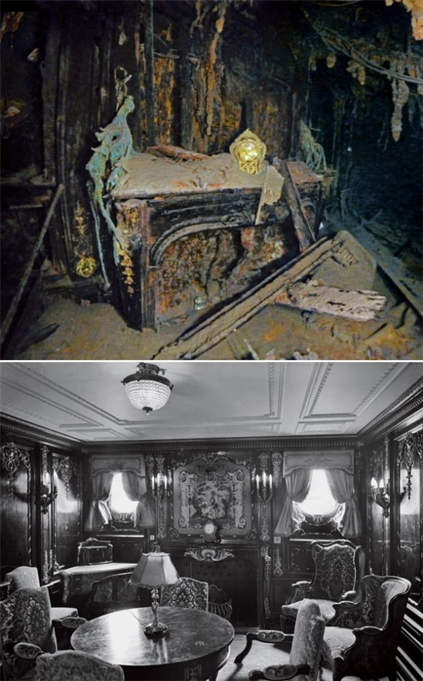 Khi được phát hiện, chiếc đồng hồ mạ vàng vẫn nằm nguyên vẹn trên lò sưởi điện trong căn phòng sang trọng của ông bà Straus.