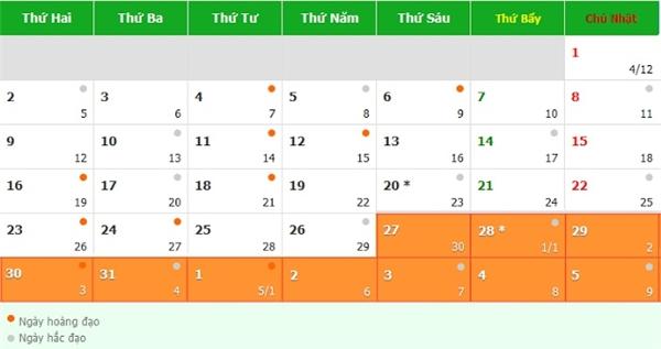 Tổng cộng số ngày nghỉ Tết của người lao động là 10 ngày.