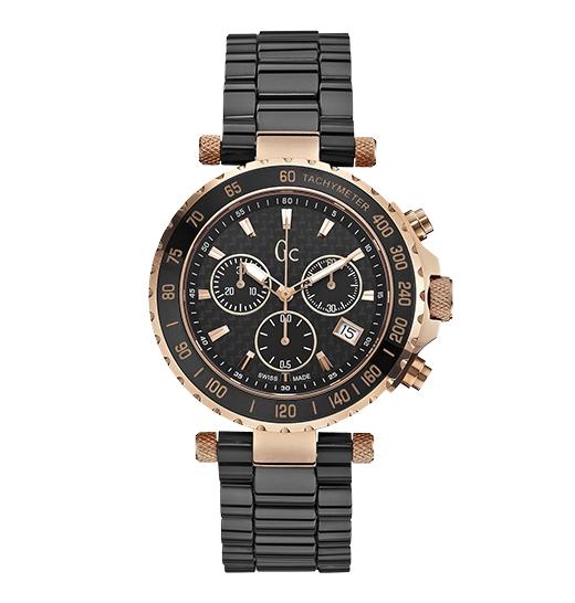 Nằm trong bộ sưu tậpSport Chic, đồng hồ Diver Chic X58003G2Sđược làm từ đá Ceramic và vàng hồng PVD cùng mặt kính Sapphire, độ chống nước 100m. Chiếc đồng hồ tinh tế GC có giá 14.190.000 đồng.