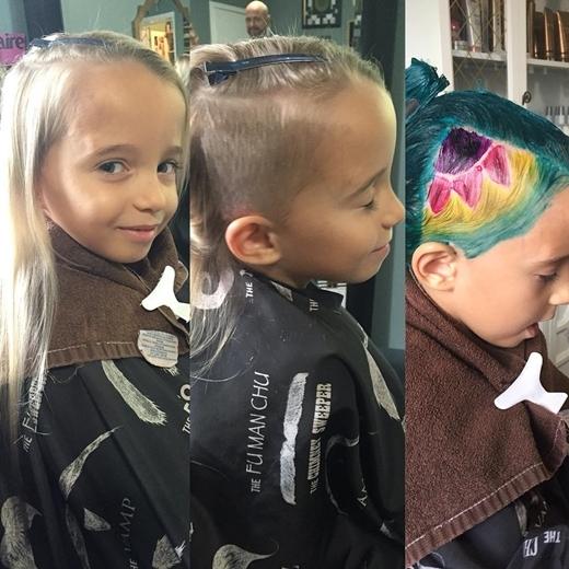 """Quá trình tạo """"vảy cá"""" trên đầu cho cô gái nhỏ"""