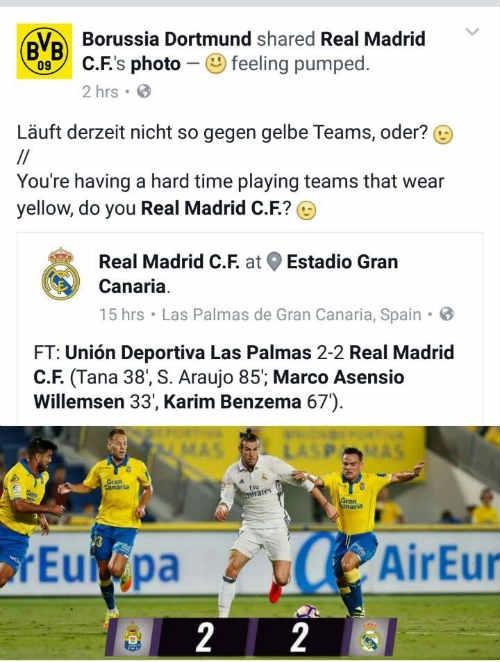 Dortmund chế giễu Real của Zidane thường gặp khó khăn khi gặp các đối thủ mặc áo màu vàng.