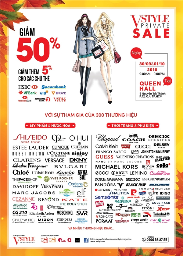 300 thương hiệu thời trang, mỹ phẩm đồng loạt giảm 50%