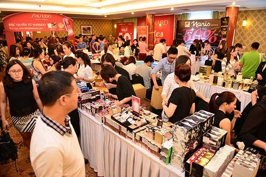 Một góc gian hàng Shiseido tại sự kiện Vstyle's Private Sale TP.HCM tháng 4/2016.