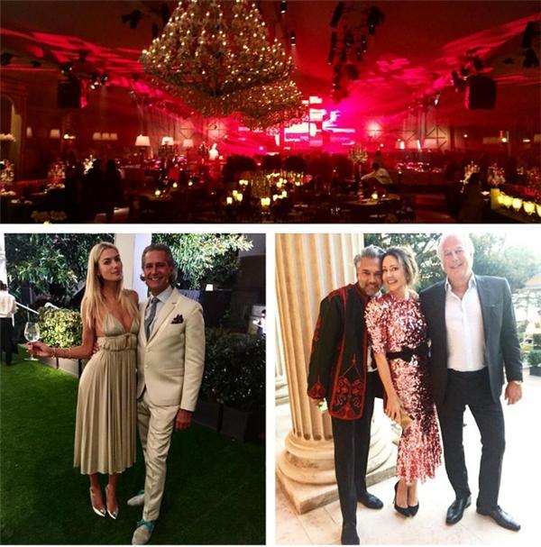 Hình ảnh các vị khách mời trong bữa tiệc tối trước khi lễ cưới chính thức diễn ra.