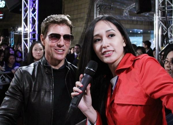 Mai Phương Thúy phỏng vấn Tom Cruise tại lễ công chiếu phim Oblivion. - Tin sao Viet - Tin tuc sao Viet - Scandal sao Viet - Tin tuc cua Sao - Tin cua Sao