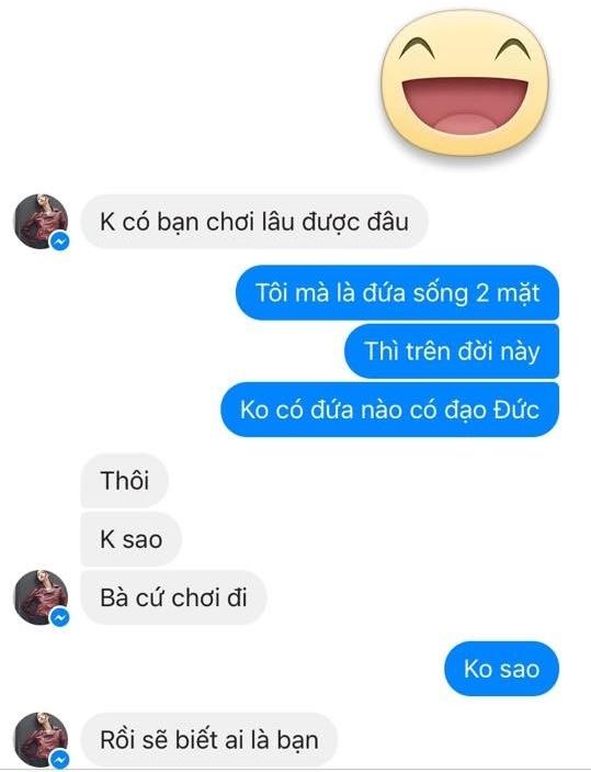 Cuộc nói chuyện củaKim Quỳnhvới chủ shop.(Ảnh: Internet)