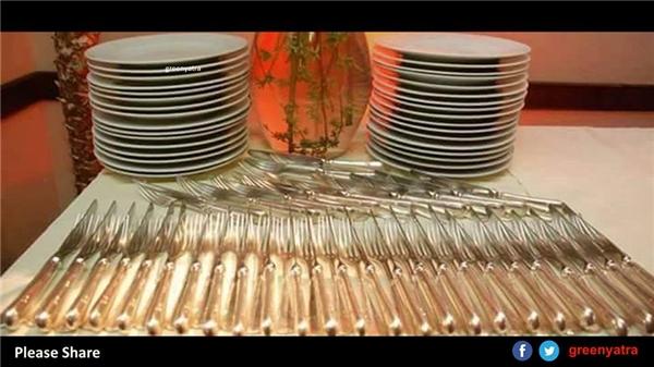 Một cách sắp xếp muỗng nĩa khoa học và đẹp mắt bạn cần tham khảo.(Ảnh: GreenYatra)