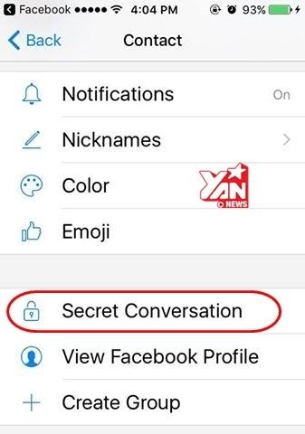 Lựa chọn sử dụng tính năng tin nhắn tự hủy.