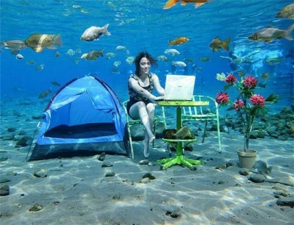 Liệu trong tương lai, con người có thể xây được văn phòng dưới đáy biển không nhỉ?
