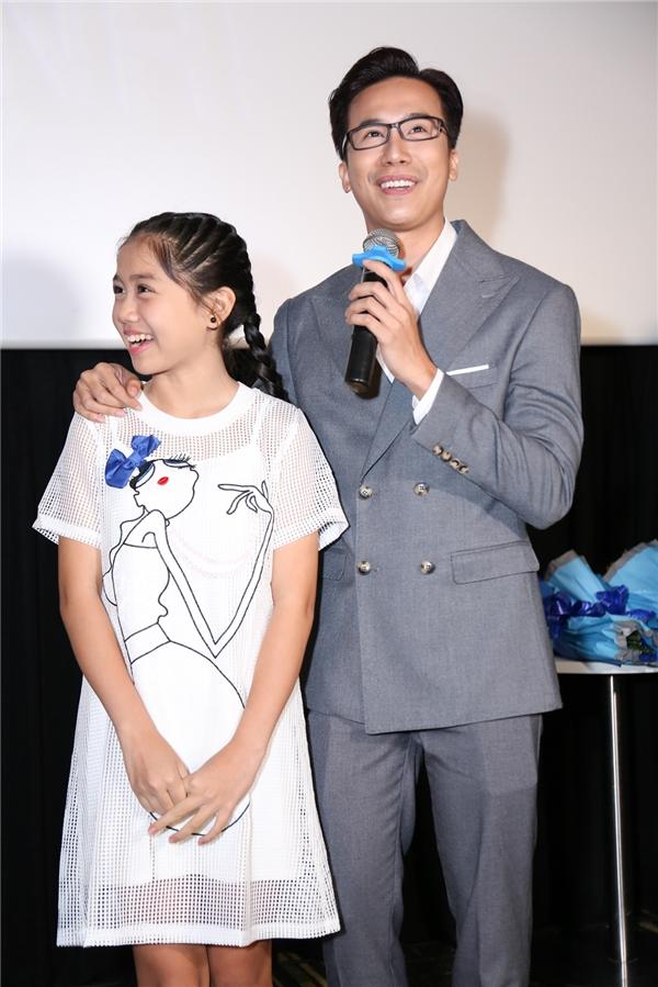 Cặp đôi thí sinh Lê Việt - Nhã Thy vui vẻ cho biết hai thầy trò rất tâm đầu ý hợp trong việc luyện tập.