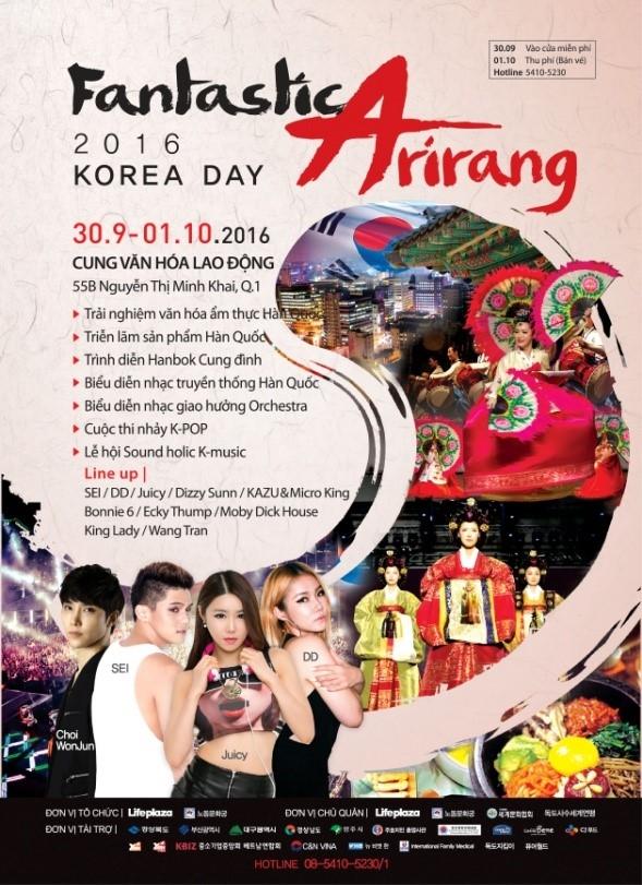 Lễ hội văn hóa Hàn Quốc 2016 - Nét đẹp Arirang