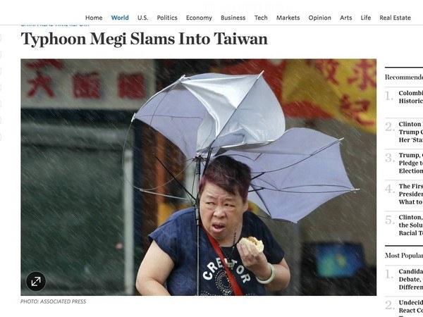 """Tinh thầncương quyết chiến đấu với cơn bão để... ăn nốt cái bánh bao của người phụ nữ Đài Loankhiếnnhiều ngườiphải """"bái phục""""."""