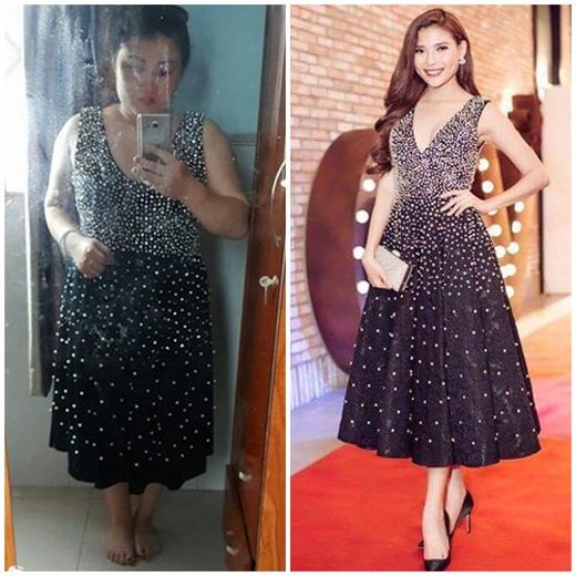 Kim Quỳnh thất vọng vì chiếc váy thảm hại từ chất liệu cho đến phom dáng.