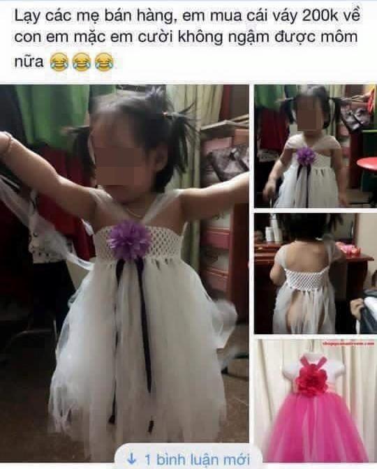 Chiếc đầm cho bé được quảng cáo nửa kín nửa hở...