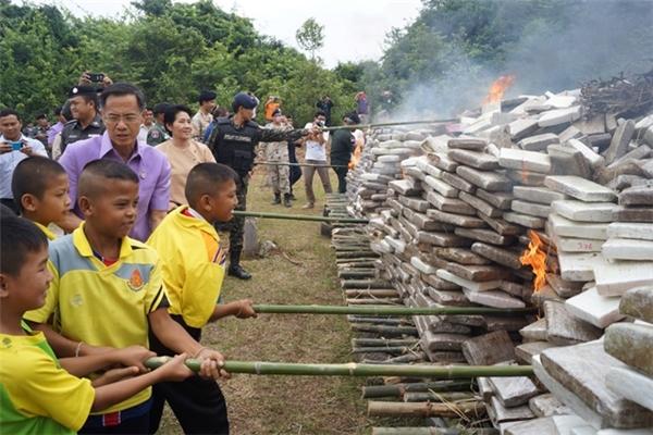 Hình ảnh sau khi được công bố gây bức xúc trong dư luận Thái Lan