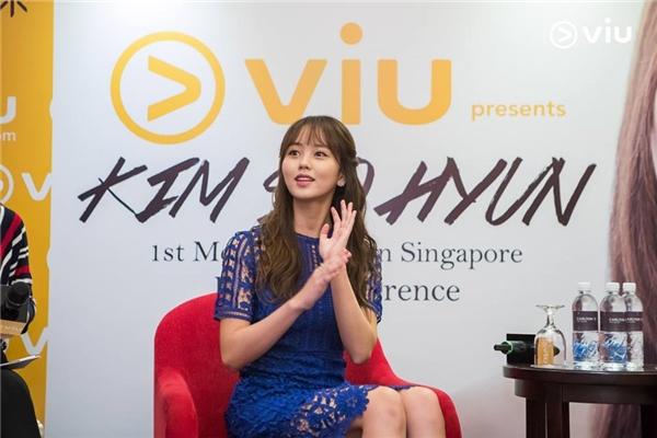 Kim So Hyun xinh đẹp không góc chết tại buổi tuyên truyền phim