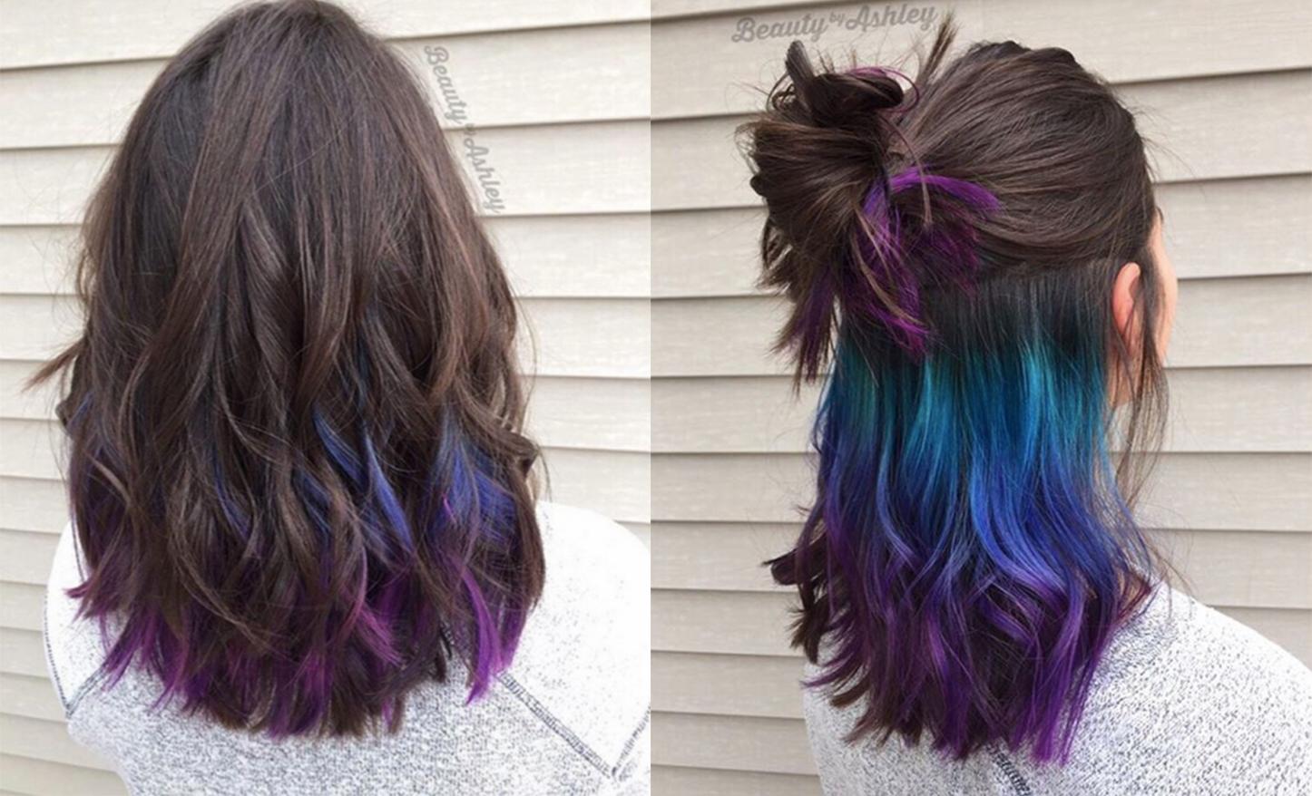Mốt tóc ombre ẩn hiện được rất nhiều bạn trẻ yêu thích.