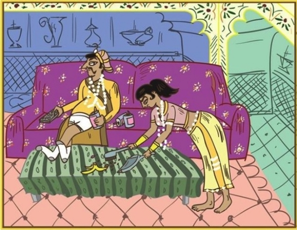 """Thực trạng không của riêng gia đình nào, người vợ thường chịu trách nhiệm dọn dẹp mọi thứ trong khi đó chồng chỉ ngồi """"rung đùi"""" không phải làm gì cả."""