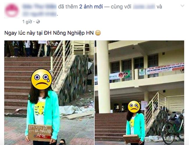 Hành động của cô gái khiến cộng đồng mạng sôi sục. Ảnh: Facebook