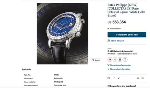 Đây là chiếc đồng hồPatek Philippe Geneve Sky Chart 6103G của Thụy Sĩtrị giá tới hơn 10 tỉđồng.