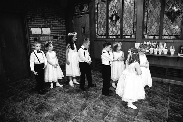 6 em học sinh mắc hội chứng Down mà Kinsey đang giảng dạy đều có mặt đầy đủ.