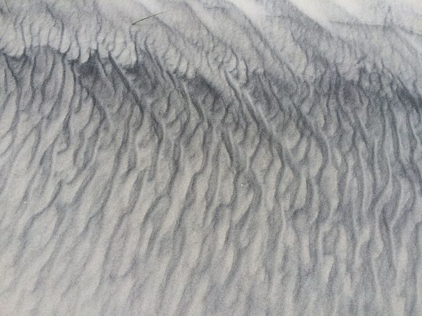Đồi cát sau một trận gió.