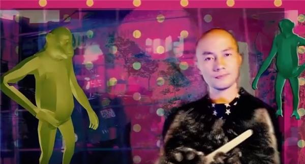 Tạo hình khác lạ của Tiến Đạt trong MV mới.
