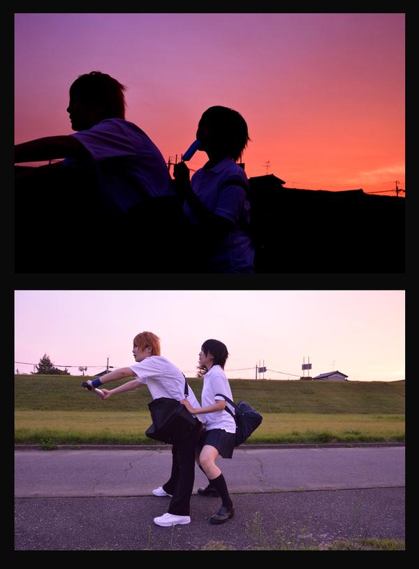 Đôi bạn trẻ đạp xe chở nhau trong ánh chiều hoàng hôn tím mới lãng mạn làm sao!
