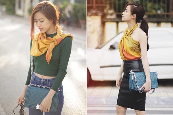 Mĩ nhân Việt đẹp, xấu với mốt quấn khăn làm áo