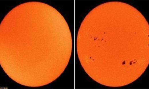 Bức ảnh cho thấy các vết đen trên bề mặt Mặt Trời hoàn toàn biến mất.