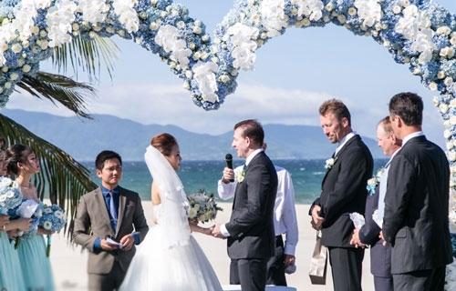 Hôn lễ lãng mạn như trong cổtích đã được diễn ra vào tháng 9 vừa qua.