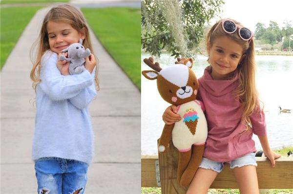 Lavinya là mẫu nhí 5 tuổi cho một số tạp chí thời trangcủa xứ sở cờ hoa.