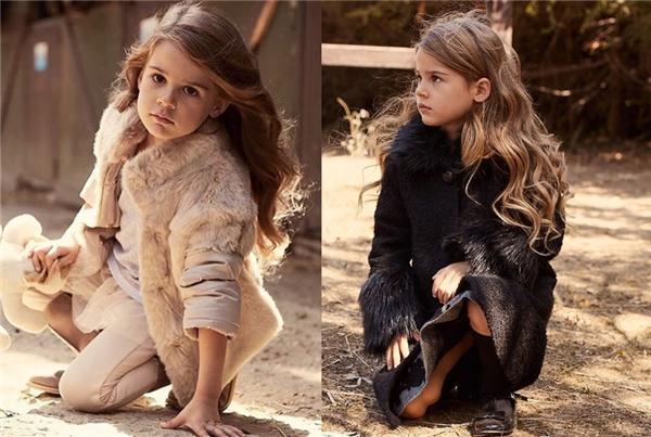 Lavinya trông ra dáng và trưởng thành hơn trong loạt thời trangmàu vintage.