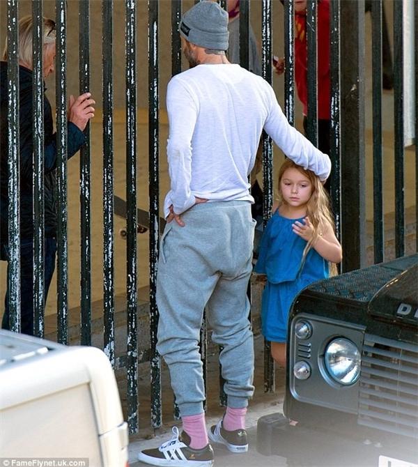 Bé Harper dễ thương như một nàng công chúa nhỏ.